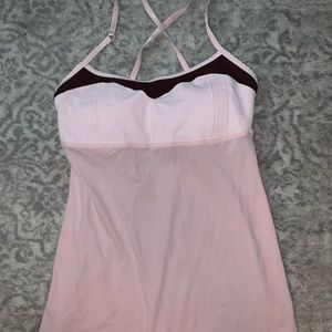 Lululemon Pink & Merlot Adjustable Tank